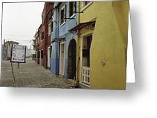 Coloured Houses In Burano Greeting Card