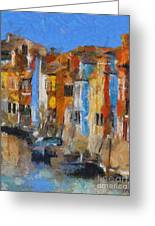 Coloured Houses On Burano Greeting Card