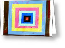 Coloured Squares Number 1 Greeting Card