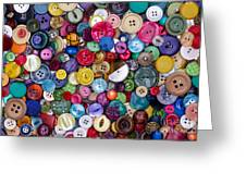 Colourful Buttons Greeting Card by Tim Gainey