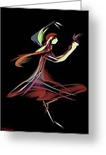Colourful Dancer  Greeting Card