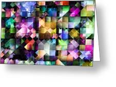 Colourful Fractal Jewels Greeting Card