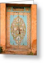 Colourful Moroccan Entrance Door Sale Rabat Morocco Greeting Card