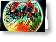 Colourful Planet Greeting Card by Bernard MICHEL