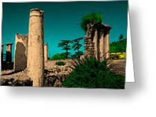 Colourful Ruins Greeting Card