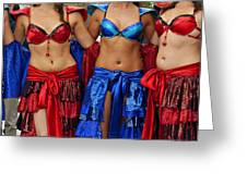 Colourful Samba Dancers  Greeting Card