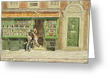 Colourmans Shop, St Martins Lane, 1829 Wc On Paper Greeting Card
