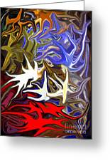 Colours Melting 3 Greeting Card