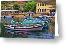 Colours Of Greece Greeting Card