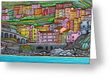 Colours Of Manarola Greeting Card