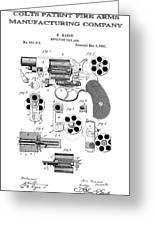 Colt Revolver Patent Art 3  -  1881  Greeting Card