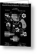 Colt Revolver Patent Art 2  -  1881 Greeting Card