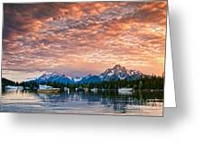 Colter Bay Sunset Greeting Card