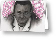 Coluche Greeting Card by Guillaume Bruno