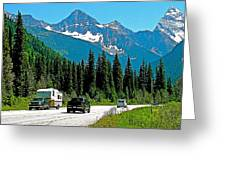 Columbia Mountains In Glacier Np-british Columbia Greeting Card