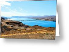 Columbia River From Overlook Greeting Card