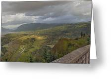 Columbia River Gorge View From Crown Point Greeting Card