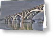 Columbia-wrightsville Bridge Greeting Card