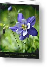 Columbine Card  Greeting Card