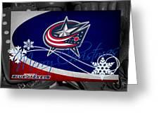 Columbus Blue Jackets Christmas Greeting Card