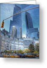 New York - Columbus Circle - Time Warner Center Greeting Card