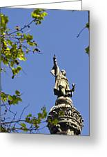Columbus Monument - Barcelona Greeting Card