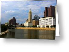Columbus Skyline Greeting Card
