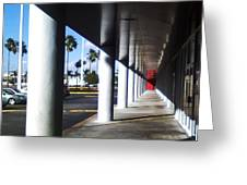 Column Corridor  Greeting Card by Eric Rodriguez