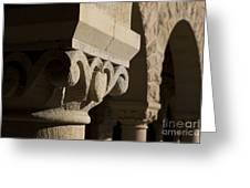 Column Detail Stanford California Greeting Card