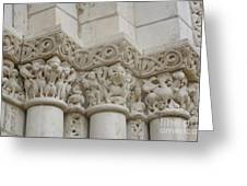 Column Relief Abbey Fontevraud  Greeting Card