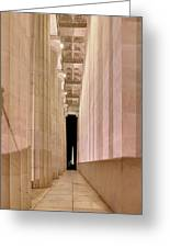 Columns And Monuments Greeting Card by Metro DC Photography
