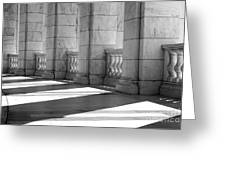 Columns And Shadows Greeting Card