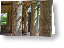 Columns At Cranes Greeting Card