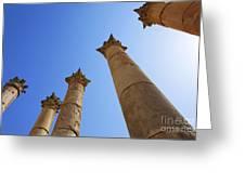 Columns At The Temple Of Artemis At Jerash Jordan Greeting Card by Robert Preston