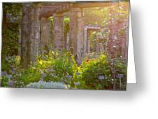 Columns In The Garden Greeting Card