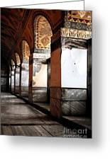 Columns Of History Greeting Card by John Rizzuto