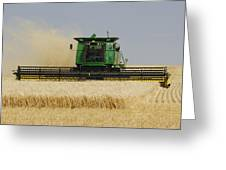 Combine Working A Field On The Greeting Card