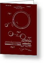 Combined Hoop And Tethered Ball Toy Patent 1967 Greeting Card