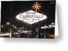 Come Back Soon Las Vegas  Greeting Card