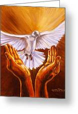 Come Holy Spirit Greeting Card by Carole Powell