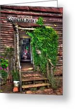 Sharecroppers Country Market Come Right In Greeting Card by Reid Callaway
