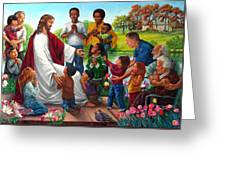 Come Unto Me Greeting Card