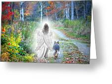 Come Walk With Me Greeting Card by Sue Long