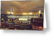 Comerica Night Game 2 Greeting Card