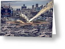 Comerica Park Asteroid Greeting Card