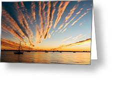 Comet Sunset Greeting Card
