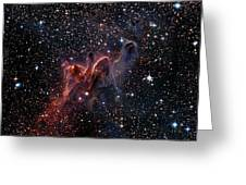 Cometary Globules In Vela And Puppis Greeting Card