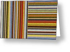 Comfortable Stripes Lx Greeting Card
