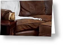 Comfy Sofa Greeting Card