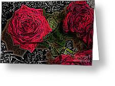 Comic Book Roses Greeting Card